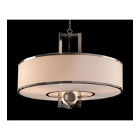 John Richard AJC-8910 Signature 3 Light 40 inch Plated Nickel and White Chandelier Ceiling Light