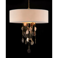 John Richard AJC-8931 Falling Agate 1 Light 36 inch Brass Pendant Ceiling Light