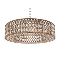 John Richard AJC-8942 Stately Crystal 1 Light 40 inch Silver Leaf Pendant Ceiling Light