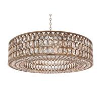 John Richard AJC-8942 Stately Crystal 1 Light 40 inch Silver Leaf Pendant Ceiling Light