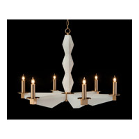 Signature 6 Light 38 inch Bronze and White Chandelier Ceiling Light