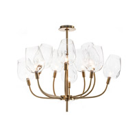 Signature 10 Light 38 inch Brass Chandelier Ceiling Light