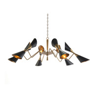 Signature 12 Light 66 inch Brass Chandelier Ceiling Light