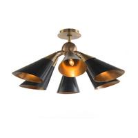 John Richard AJC-8979 Mid Century 1 Light 27 inch Brass Semi Flush Mount Ceiling Light