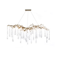 Teardrop 9 Light 19 inch Brass Chandelier Ceiling Light
