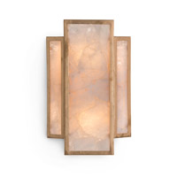 Calcite 2 Light 5 inch Gold Leaf Wall Sconce Wall Light