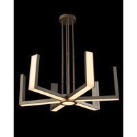 Modern 1 Light 40 inch Silver Chandelier Ceiling Light