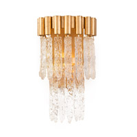 Icicle 1 Light 9 inch Gold Leaf Flush Mount Ceiling Light