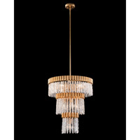 John Richard AJC-9011 Crystal Icicle 10 Light 25 inch Gold Leaf Pendant Ceiling Light