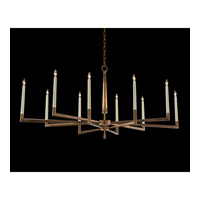 Modern 10 Light 60 inch Gold Leaf Chandelier Ceiling Light