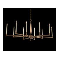 John Richard AJC-9012 Modern 10 Light 60 inch Gold Leaf Chandelier Ceiling Light