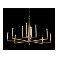 Modern 12 Light 48 inch Antique Brass Chandelier Ceiling Light