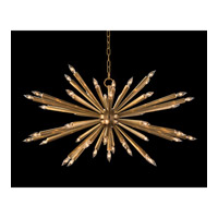 Starburst 1 Light 40 inch Antique Brass Pendant Ceiling Light