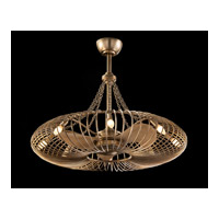 Ribbons 8 Light 36 inch Silver Leaf Pendant Ceiling Light, With Fan