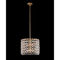 John Richard AJC-9025 Crystal Chain 6 Light 20 inch Gold Leaf Pendant Ceiling Light