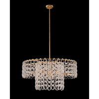 John Richard AJC-9026 Crystal Chain 6 Light 39 inch Gold Leaf Pendant Ceiling Light