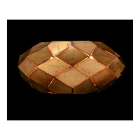 Origami 1 Light 13 inch Gold Leaf Wall Coupe Wall Light