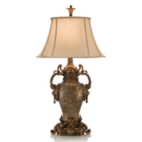 John Richard Portable 1 Light Table Lamp in Antique Gold and Silver AJL-0130