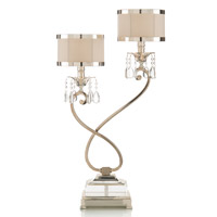 John Richard Alexander John 1 Light Buffet Lamp in Silver AJL-0318