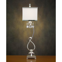 John Richard Alexander John 1 Light Buffet Lamp in Silver AJL-0320 photo thumbnail