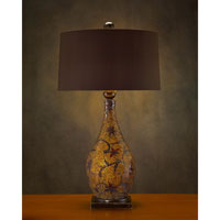 John Richard Portable 1 Light Table Lamp in Charcoal Brown AJL-0334