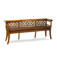 John Richard Upholstered Furniture Bench in English Polish  AMF-05-1084V19-DSBR