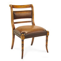John Richard Upholstered Furniture Chair in English Polish With Gold  AMF-05-1090V21-ENGS
