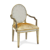John Richard Upholstered Furniture Chair in Gilded Pewter  AMF-05-1112V10-FNCD