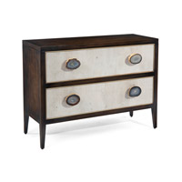 Palma Windsor Black Wtiza Gesso Drawer Chest, Two Drawers
