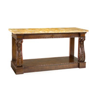 John Richard John Richard Furniture Console Table in Medium Wood EUR-02-0044