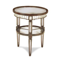 John Richard John Richard Furniture Occasional Table in Antiqued Mirror EUR-03-0303