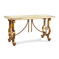 John Richard John Richard Furniture Console Table in Antiqued Mirror EUR-03-0306