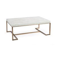Signature 48 inch Antique Brass Coffee Table Home Decor, Rectangular