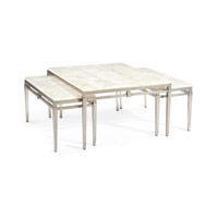 Signature 32 inch Pewter and Calcite Coffee Table Home Decor