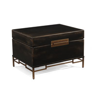 Sunset 34 inch Burnished Black Side Table Home Decor
