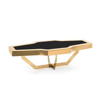 Corve 63 inch Polished Brass Cocktail Table Home Decor