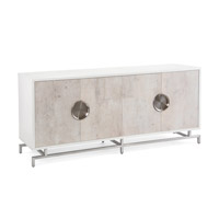 Dante Beluga White and Tiza Gesso Credenza, Four Door