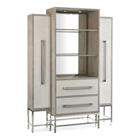 Zulu 60 inch Stainless Steel and Linen Cabinet