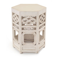 John Richard Furniture 20 inch Hand Painted Side Table Home Decor