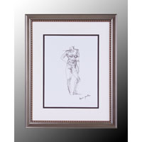 John Richard Figurative Wall Decor Giclees in Soft Pewter GBG-0303A
