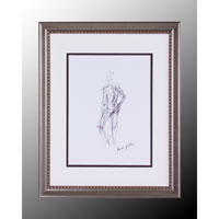 John Richard Figurative Wall Decor Giclees in Soft Pewter GBG-0303B