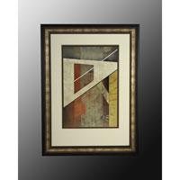 John Richard Abstract Wall Art - Print in Black and Gold  GRF-3634B