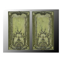 John Richard Panels Set of 2 Wall Decor 3D Art in Hand-Painted GRF-4236S2
