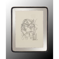John Richard Botanical/Floral Wall Decor Open Edition Art in Black and Cream GRF-4400A