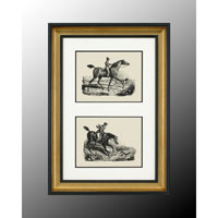 John Richard Animal Wall Art - Print in Black and Gold  GRF-4545A