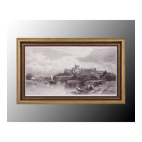 John Richard Coastal Wall Art - Print in Black and Gold  GRF-4823B