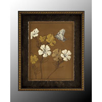 Botanical/Floral Wall Art - Print in Dark Wood  GRF-4982C