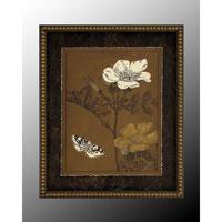 Botanical/Floral Wall Art - Print in Dark Wood  GRF-4982D