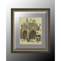 John Richard Architectural Wall Decor Open Edition Art in Soft Silver GRF-5035A
