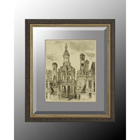 John Richard Architectural Wall Decor Open Edition Art in Soft Silver GRF-5035B